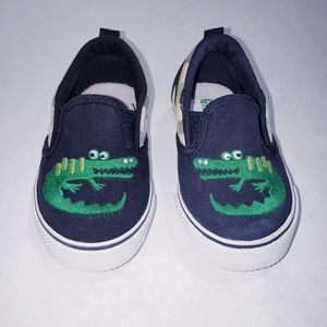 Baby Boy Gymboree Crocodile Canvas Slip-on